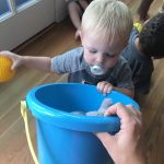 Baby boys gross and fine motor skills