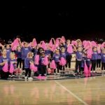 Toddlers and moms with older dancers at Liberty University performance